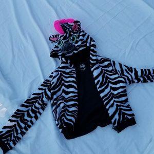 Justice zebra hoodie size 7